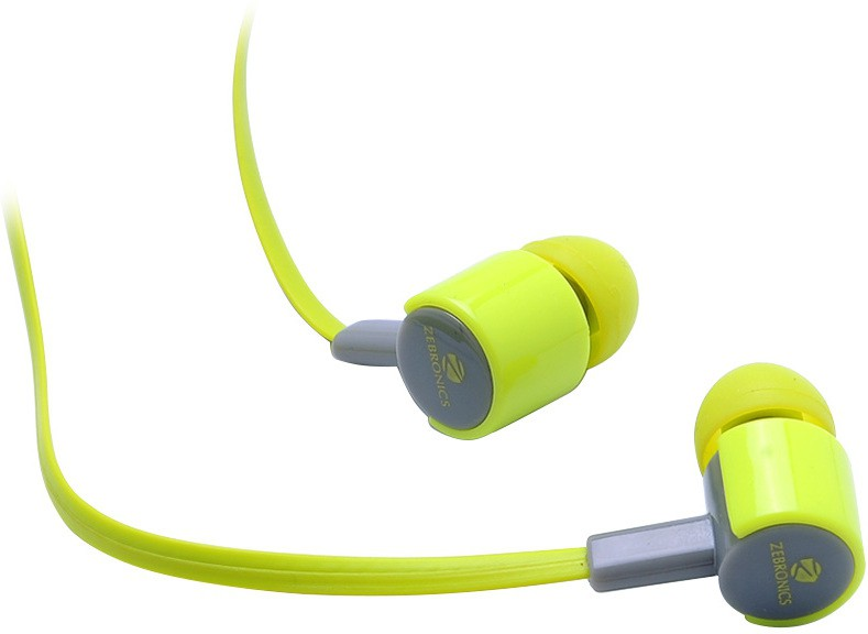 Zebronics EM 850 with mic Wired Headset With Mic(Green)