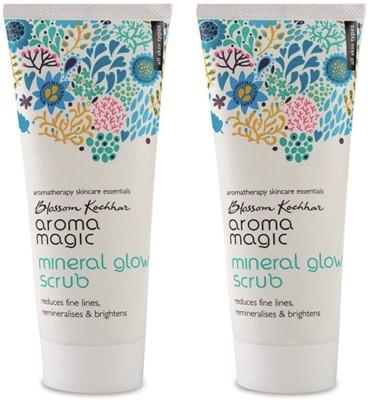 Aroma Magic Mineral Glow Face Scrub Pack Of 2 Scrub(200 ml)