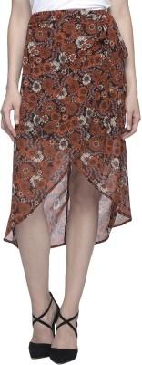 Oxolloxo Printed Women's Asymetric Multicolor Skirt at flipkart