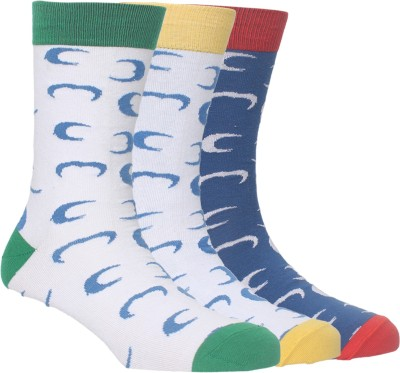 Arrow Mens Graphic Print Crew Length Socks(Pack of 3)