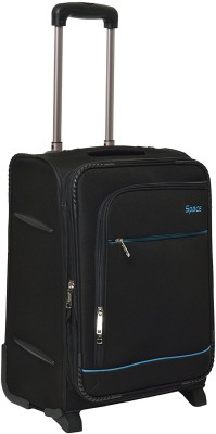 Space E05 Four Wheel Expandable Check-in Luggage - 24 inch(Black)