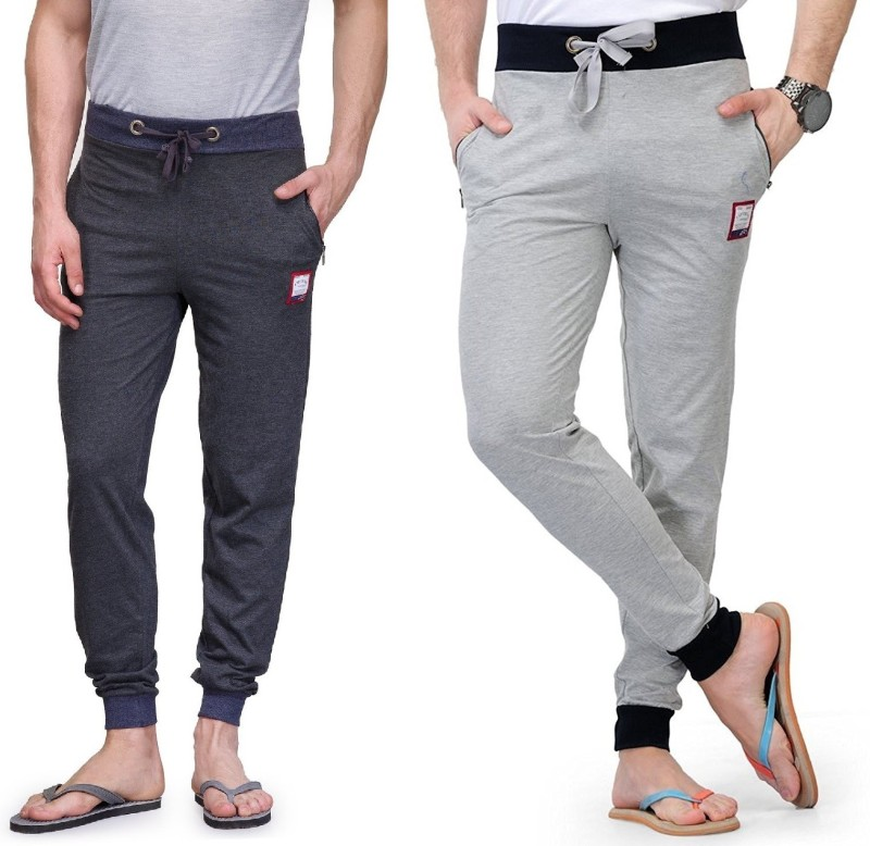 FeelBlue Solid Men's Grey Track Pants