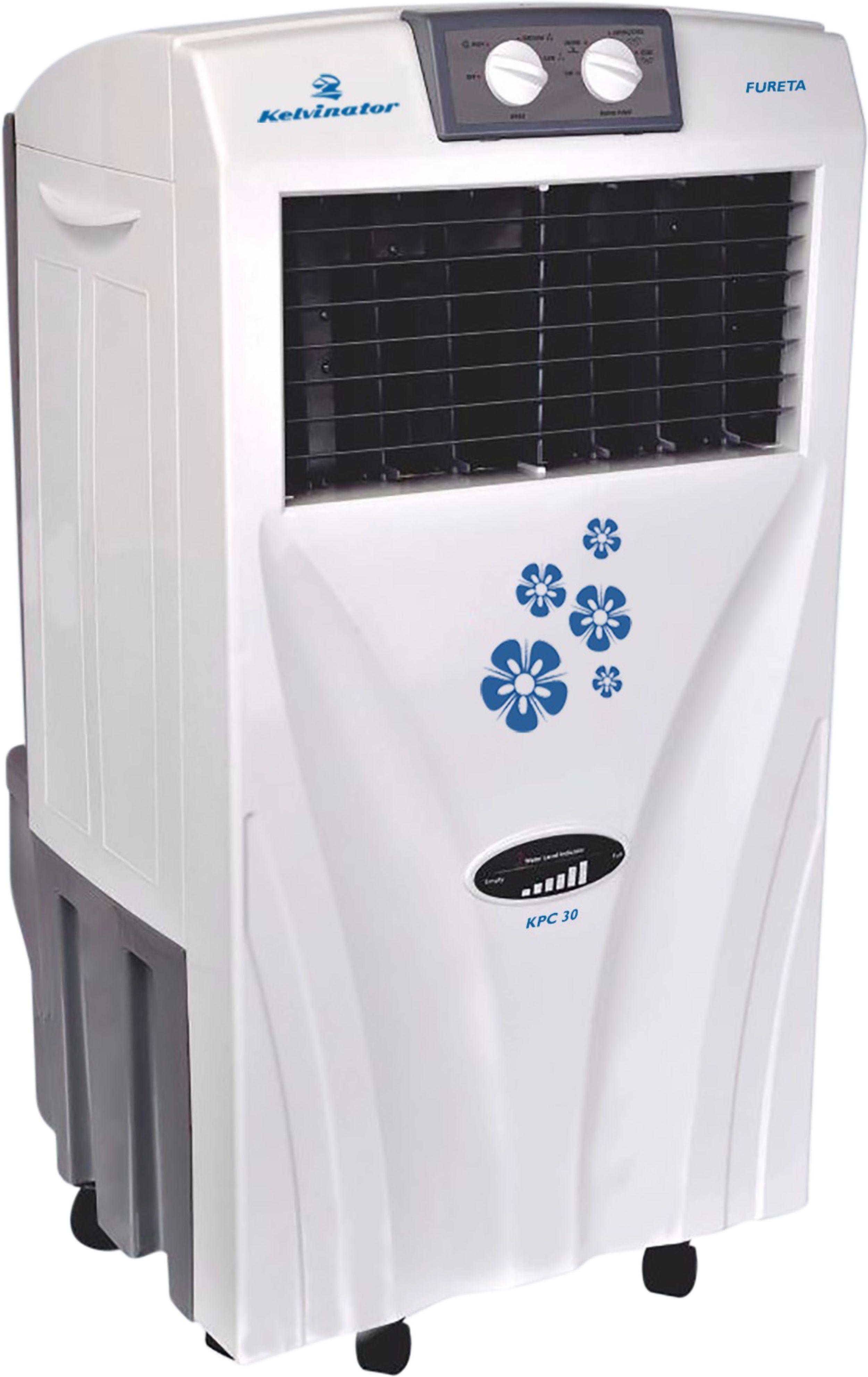 View Kelvinator Fureta Personal Air Cooler(White, 30 Litres) Price Online(Kelvinator)