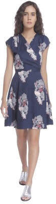 Vero Moda Women's Fit and Flare Blue Dress at flipkart