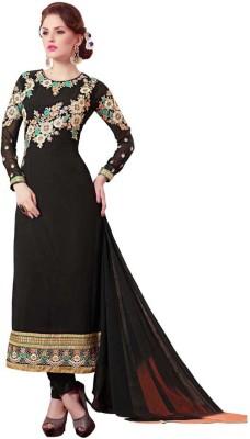 Saara Georgette Floral Print, Embroidered Salwar Suit Dupatta Material(Un-stitched) at flipkart