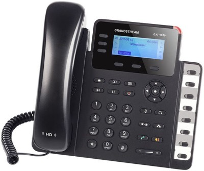 GRANDSTREAM GXP1630 Corded Landline Phone(Black)