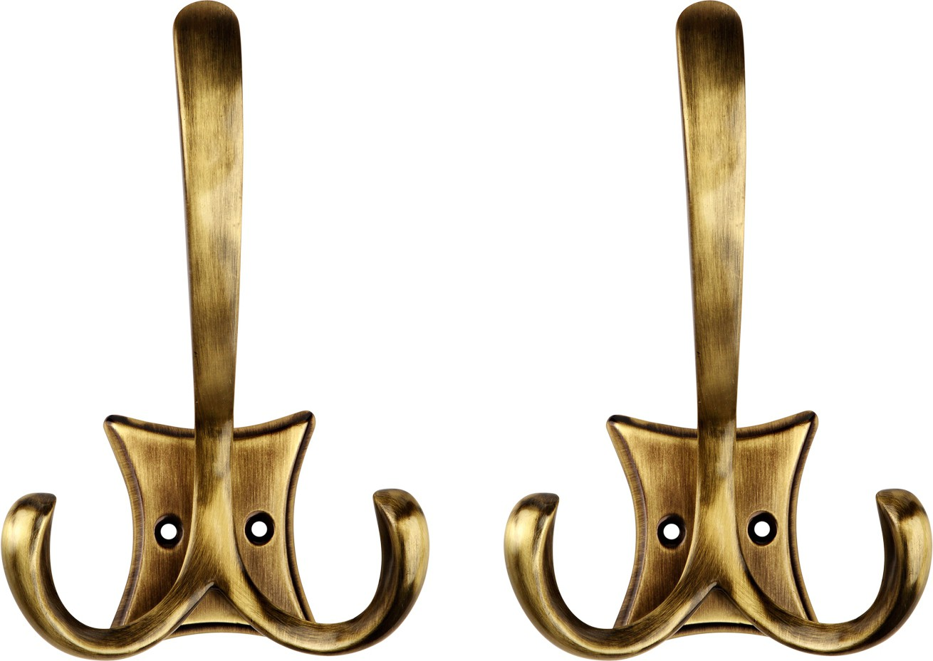 View Hobknobs Hat & Wall Robe/Coat/Clothes Antique Brass Hook Shaped Back Plate Brass Wall Shelf(Number of Shelves - 1, Brown) Furniture (Hobknobs)