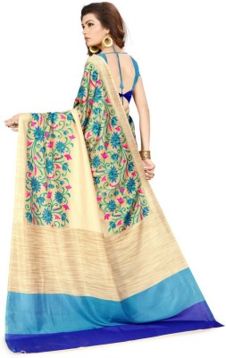 AJS Printed Fashion Art Silk Saree(Multicolor) at flipkart