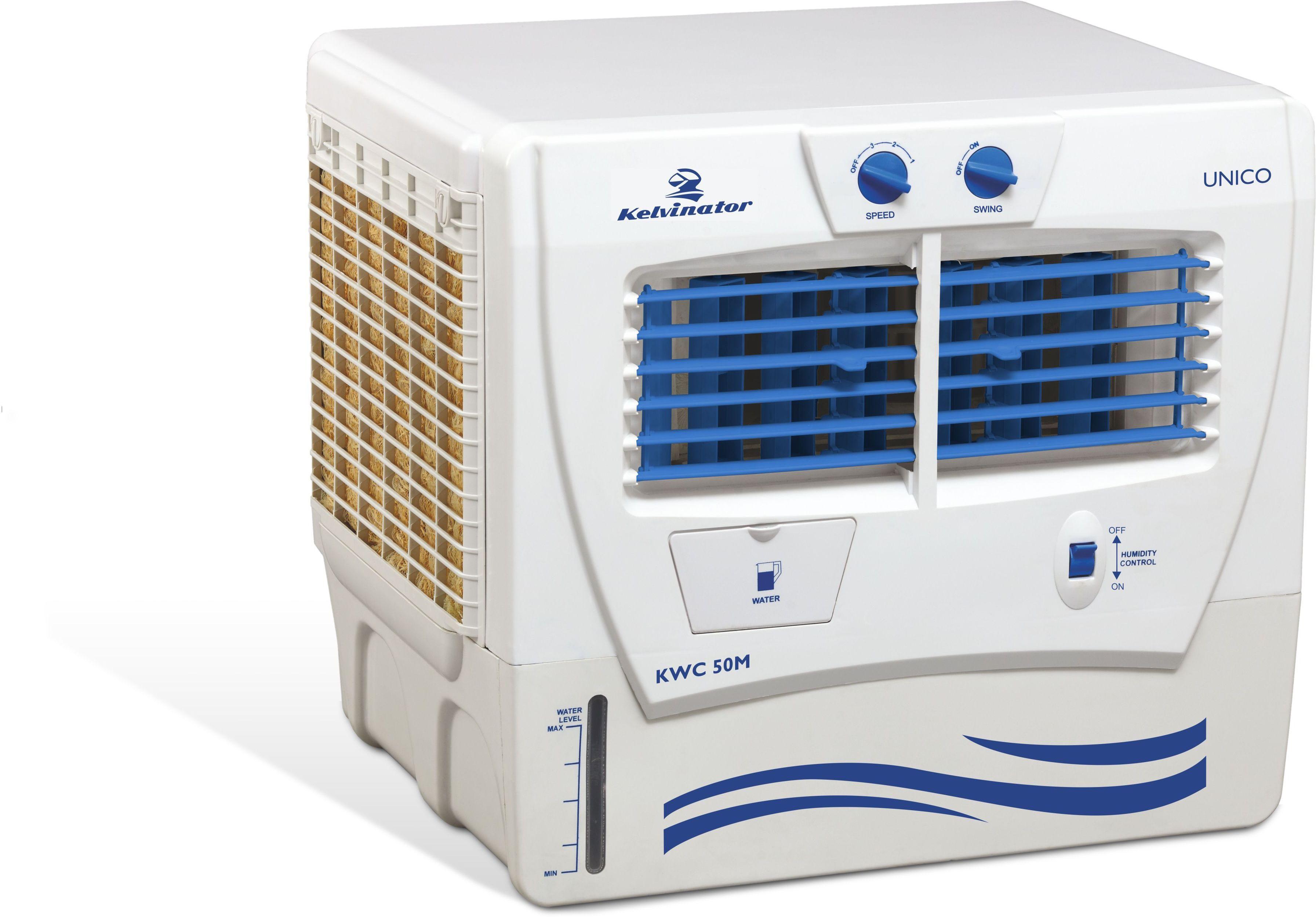 View Kelvinator Unico Window Air Cooler(White, 54 Litres) Price Online(Kelvinator)