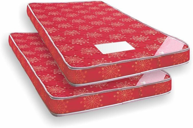 View COIRFIT Set of 2 4 inch Single Bonded Foam Mattress(Standard Foam) Furniture (Coirfit)