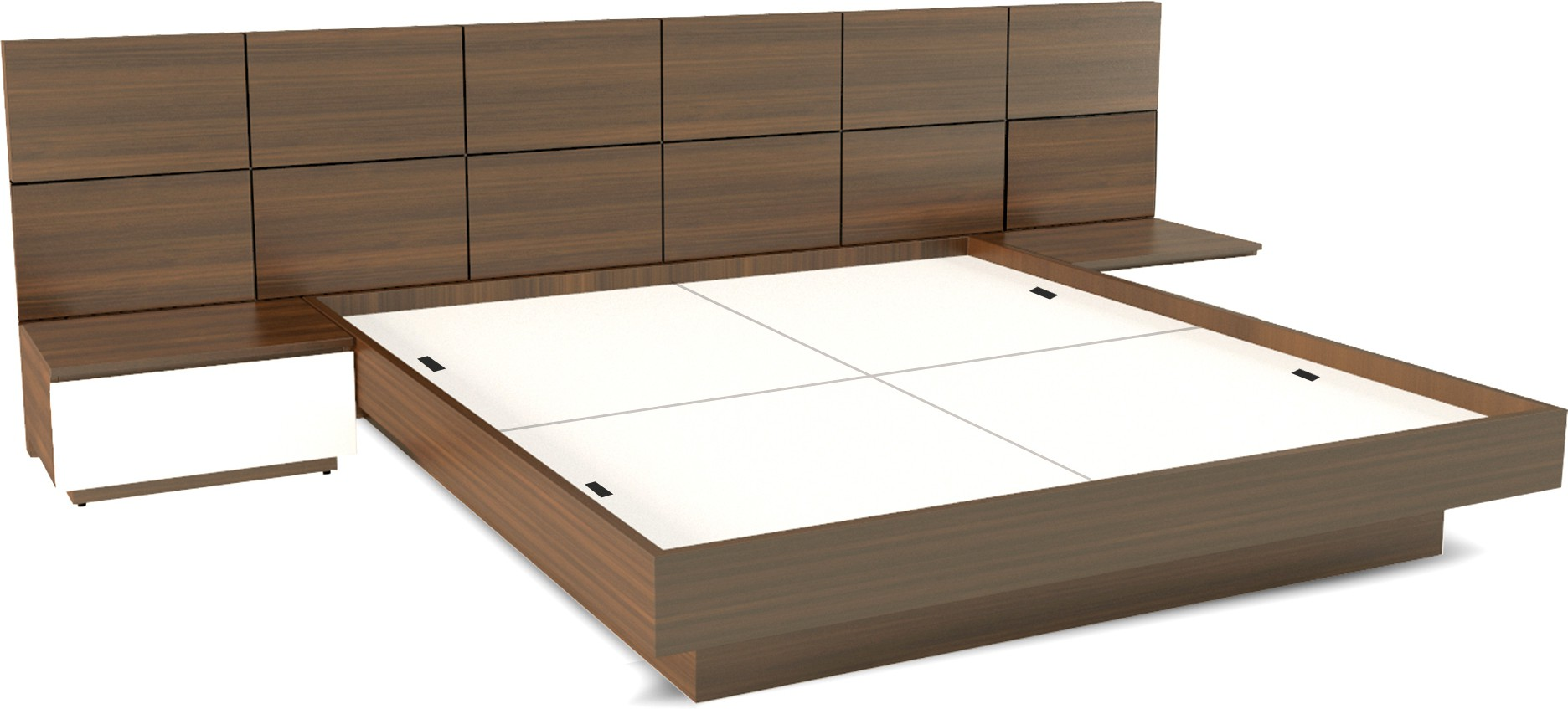 View UNiCOS Horizon Engineered Wood King Bed With Storage(Finish Color -  Matte) Furniture (UNiCOS)