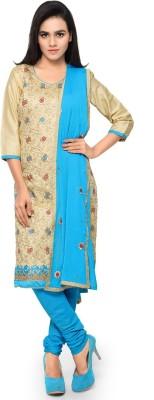 Saara Cotton Floral Print, Embroidered Salwar Suit Dupatta Material(Un-stitched) at flipkart