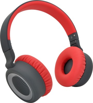 boat Rockerz 430 bluetooth Headphones(Red, On the Ear)