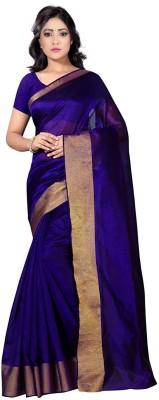 Jay Fashion Embellished Banarasi Art Silk Saree(Purple, Gold) at flipkart