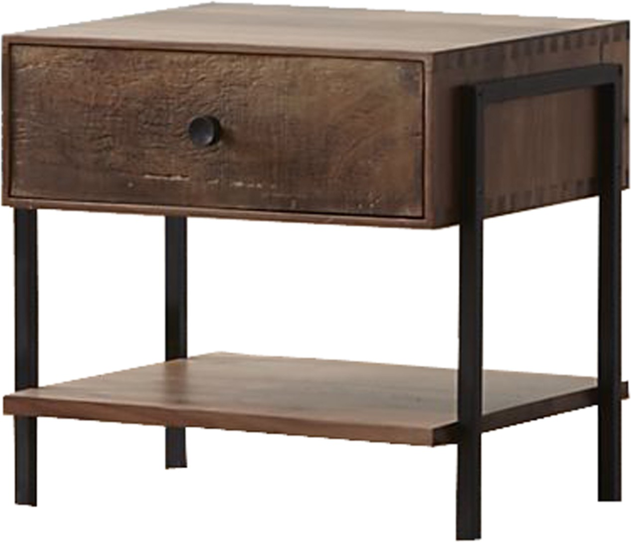 View WOOD CREATION Solid Wood Bedside Table(Finish Color - Walnut) Furniture (WOOD CREATION)