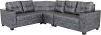 Sofame Dazzle Solid Wood 5 Seater Modular(Finish Color - Two tone - black & grey)