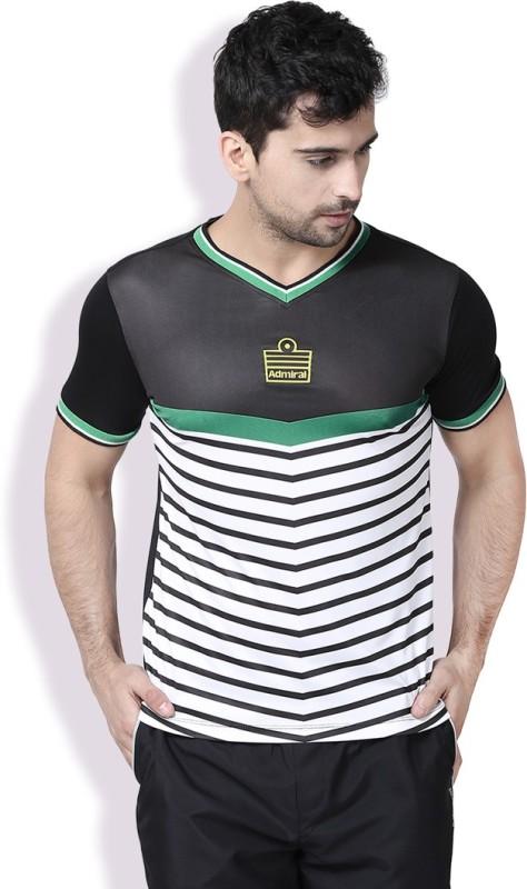 Admiral Printed Men's V-neck Black T-Shirt