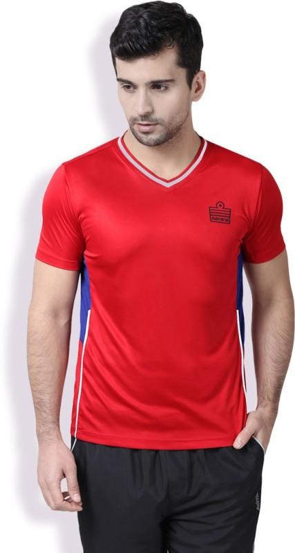 Admiral Printed Men's V-neck Red T-Shirt