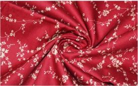 V WALKERS Cotton Floral Print Shirt Fabric(Un-stitched)