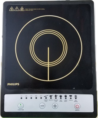 Philips Daily Collection HD4920 1500-Watt Induction Cooktop(Black, Push Button)
