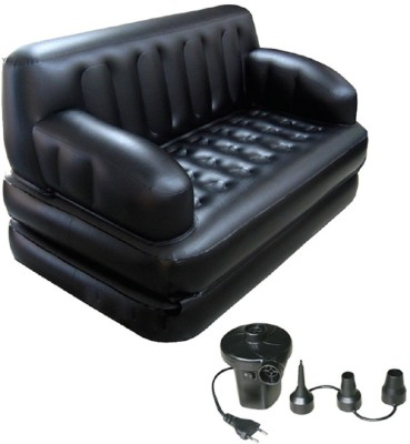 Bestway PVC 2 Seater Inflatable Sofa(Color - black)