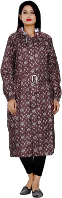 Finery Graphic Print Womens Raincoat