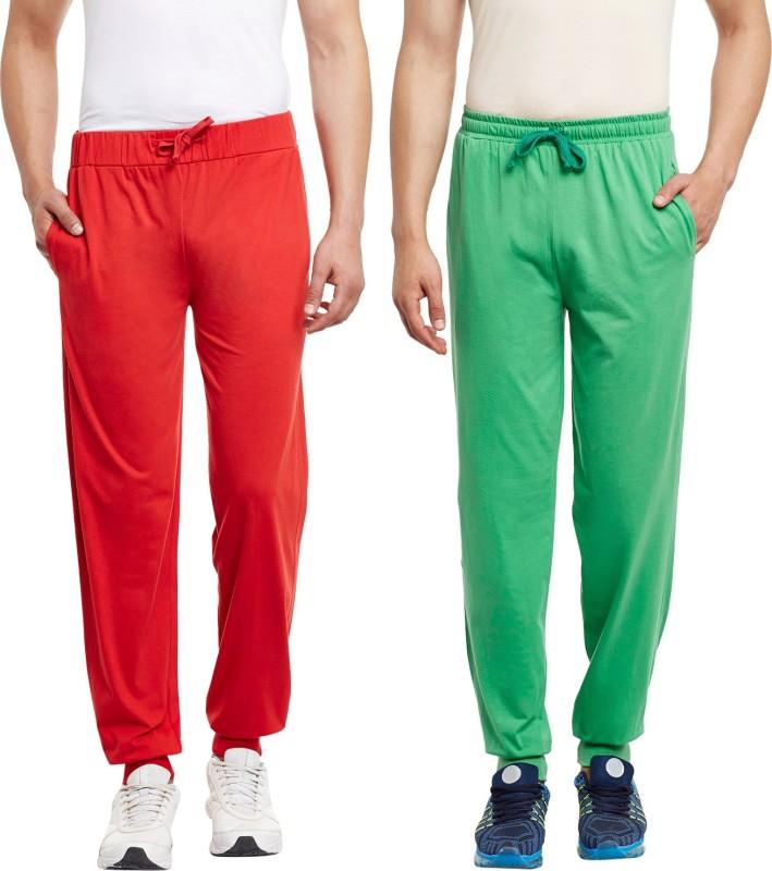 HAIG-DOT Solid Men's Light Green, Red Track Pants