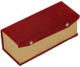 Kuber Industries Single Roll Velvet Hard Board Material Bangle Vanity Box(Red)