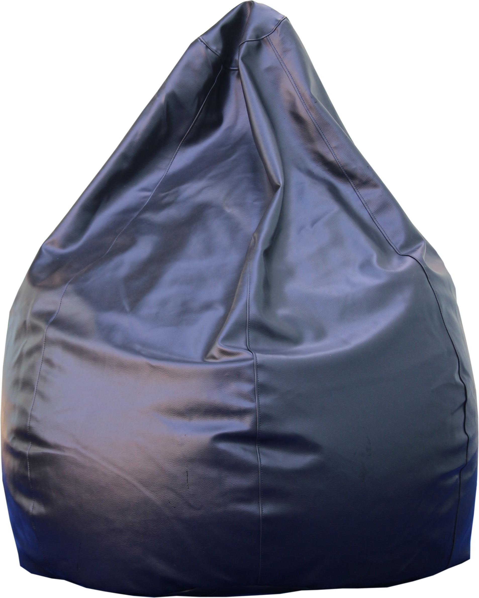View Beanskart XXL Bean Bag  With Bean Filling(Black) Furniture (Beanskart)