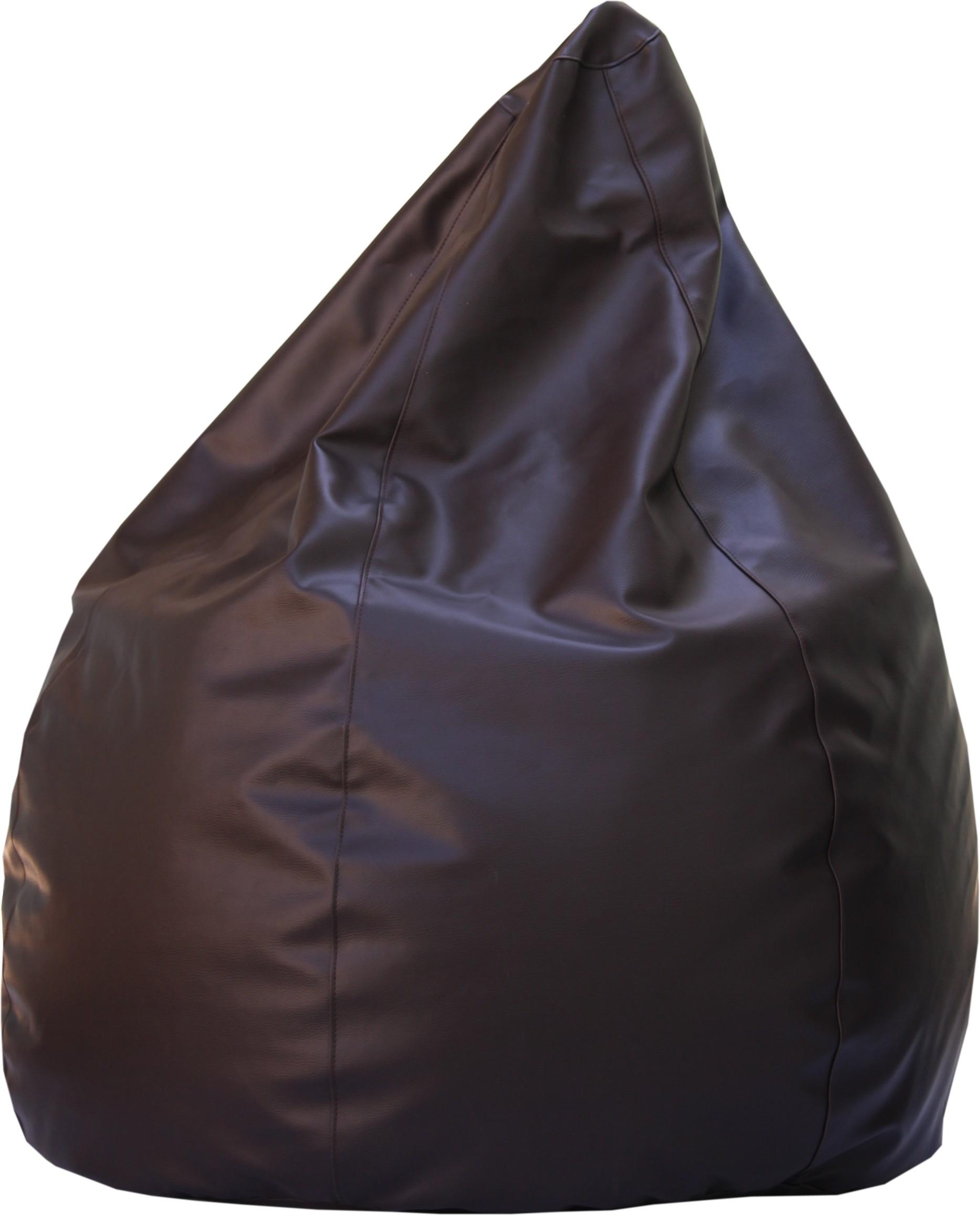 View Beanskart XXL Bean Bag  With Bean Filling(Brown) Furniture (Beanskart)