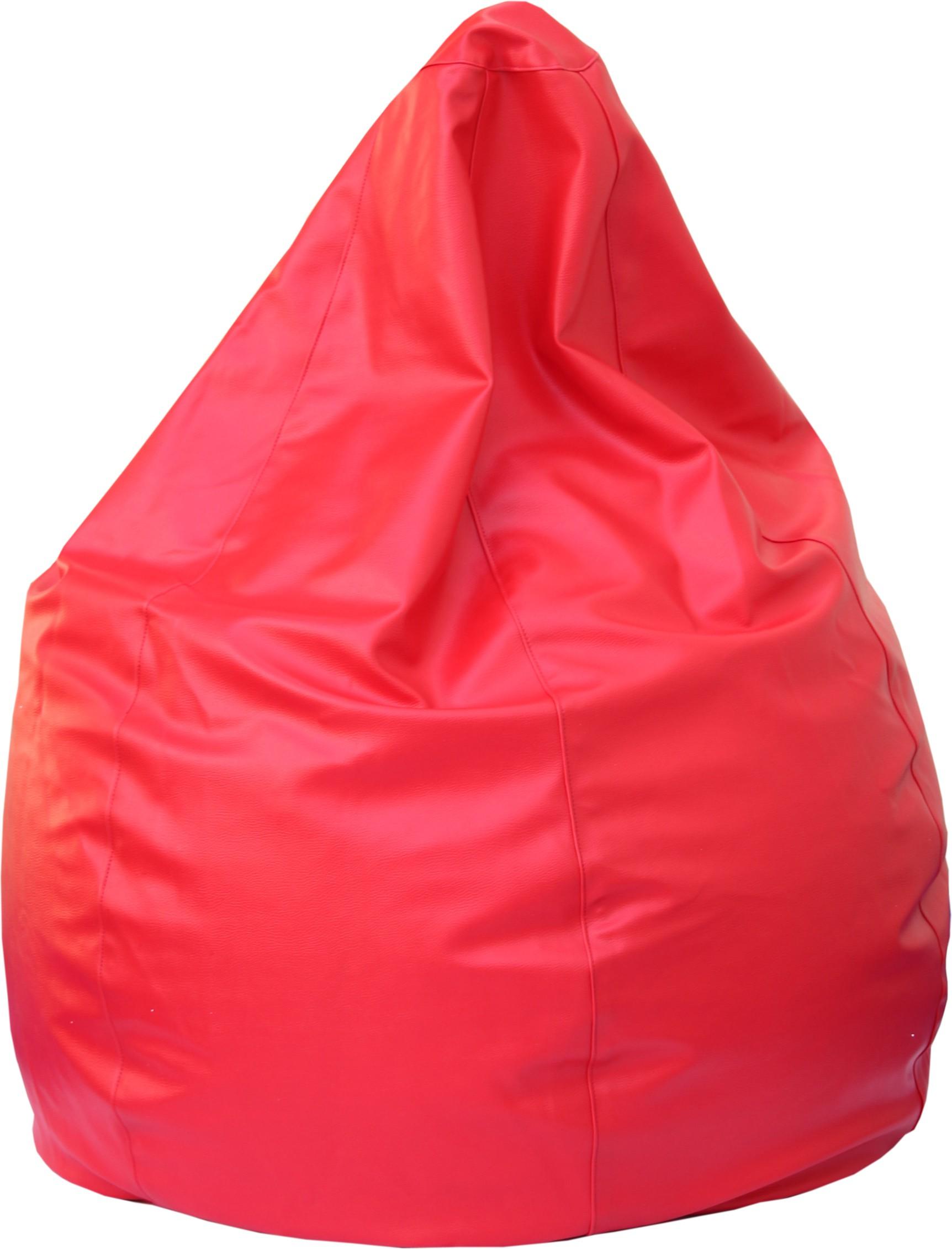 View Beanskart XXL Bean Bag  With Bean Filling(Red) Furniture (Beanskart)