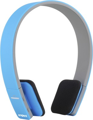 Envent Boombud Blue Wireless bluetooth Headphones(Blue, Over the Ear)