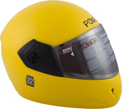Autofy Power with Mirror Finish Visor Motorbike, Motorsports Helmet(Bright Yellow)