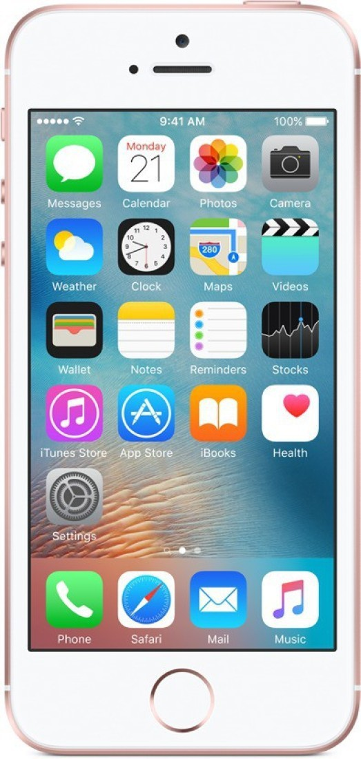 View Apple iPhone SE (Rose Gold, 32 GB) Mobile Price Online(Apple)