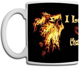 Muggies Magic Chande Love Name Design Ceramic Mug(325 ml)