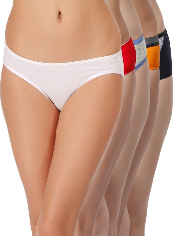 Clovia Women's Hipster Multicolor Panty(Pack of 5)