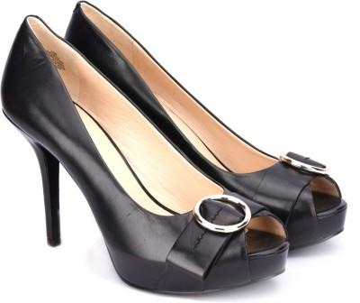 Ninewest Women BLACK Heels at flipkart