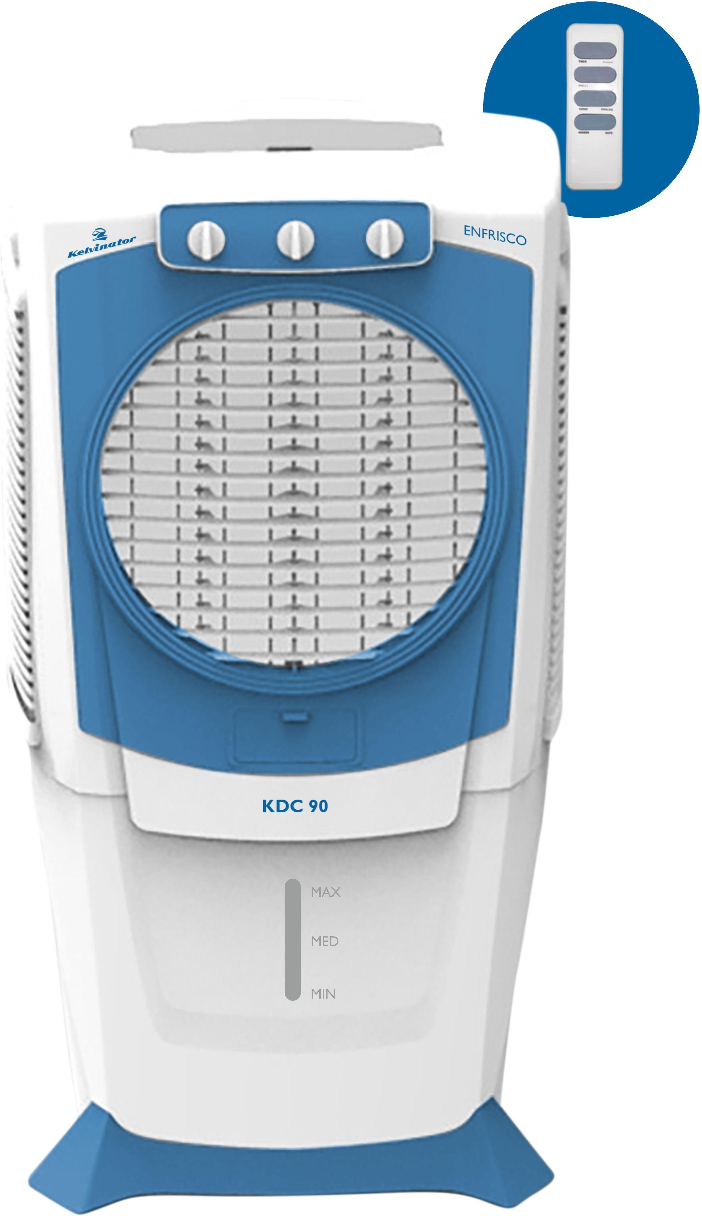 View Kelvinator Enfriso KDC 90 Desert Air Cooler(White, Blue, 90 Litres)  Price Online