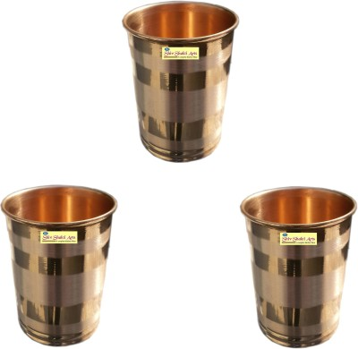 Shivshakti Arts Glass Set(200 ml, Brown, Pack of 3)
