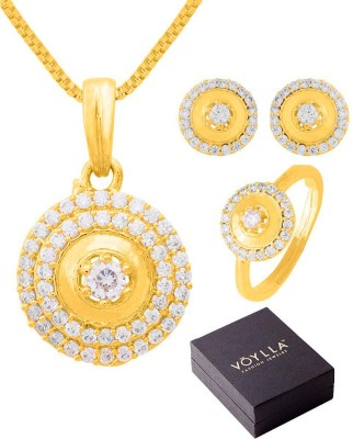 NIA for Voylla Brass Jewel Set(Gold) at flipkart