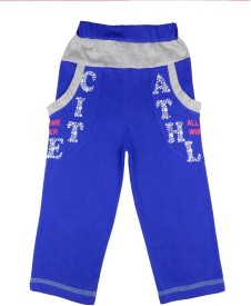 Sweet Angel Track Pant For Boys & Girls(Blue Pack of 1)