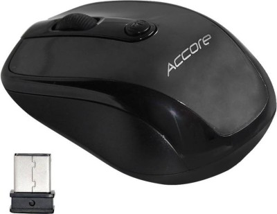 Accore Black 2.4ghz power 09 Wireless Optical Mouse(USB, Black)