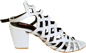 Andfoot Women White Heels