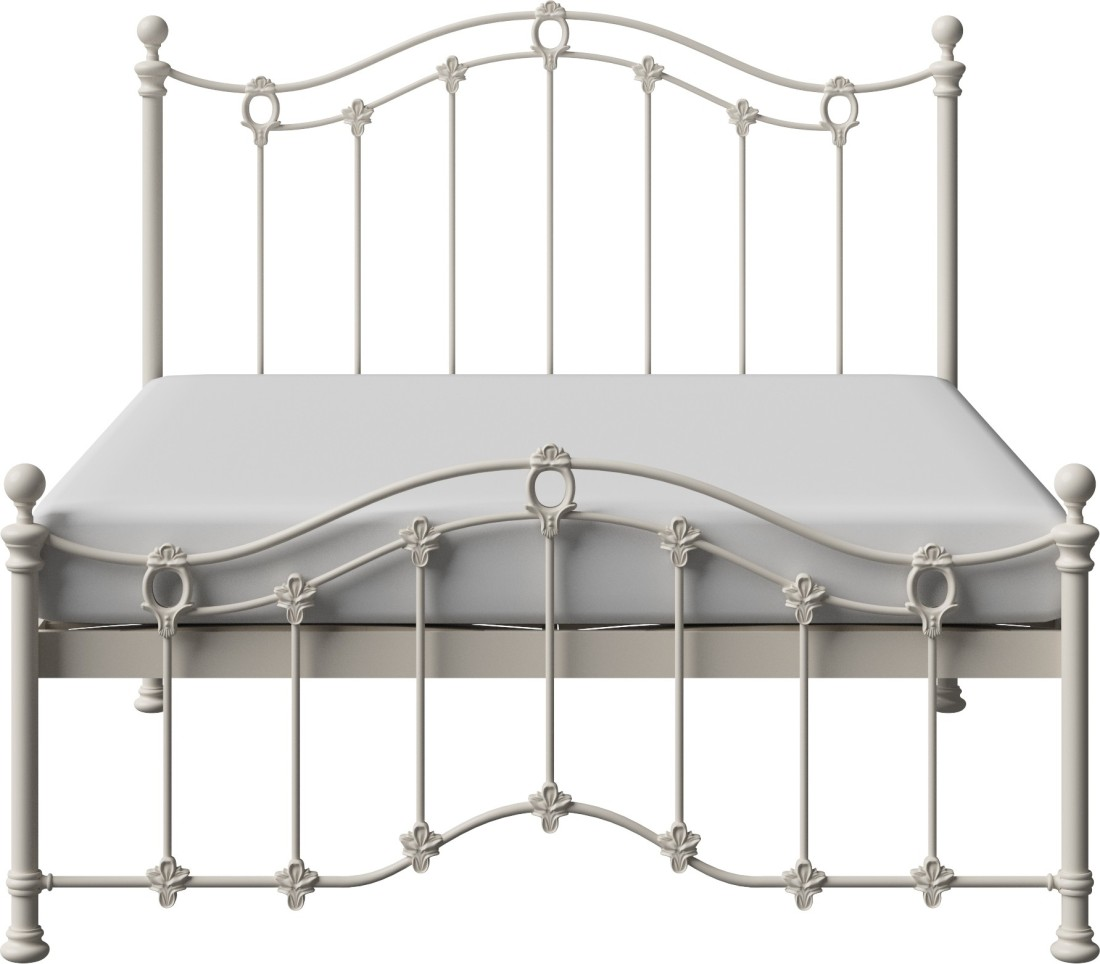 View The Original Bed Co. Clarina 5'0 Metal Queen Bed(Finish Color -  Ivory)
