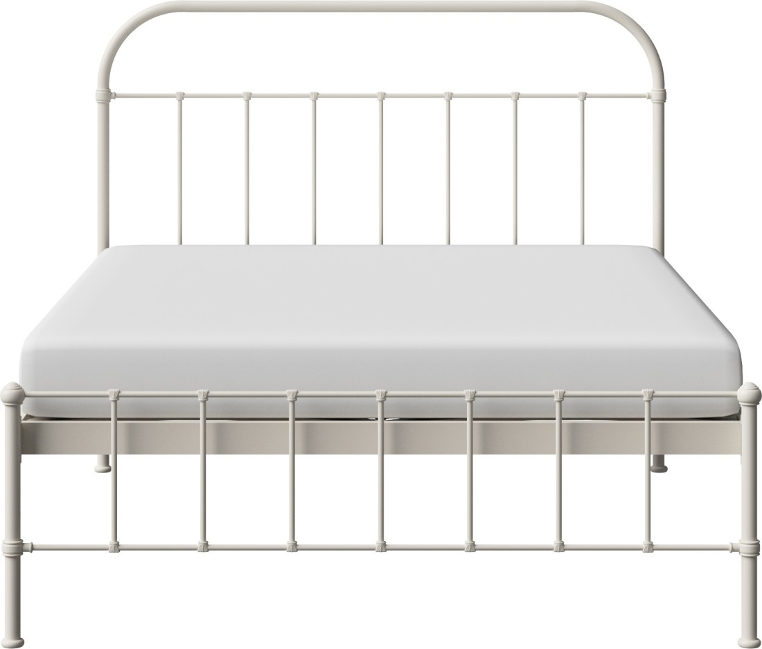 View The Original Bed Co. Solomon 5'0 Metal Queen Bed(Finish Color -  Ivory)