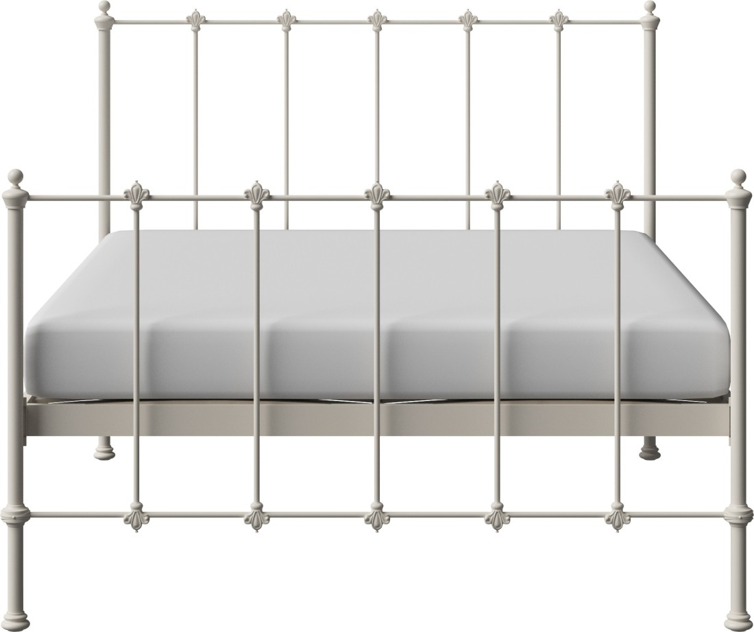View The Original Bed Co. Paris 5'0 Metal Queen Bed(Finish Color -  Ivory)