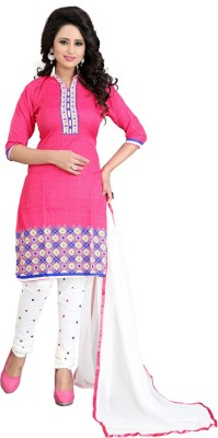 fast n fashion Crepe Printed Salwar Suit Material(Un-stitched)