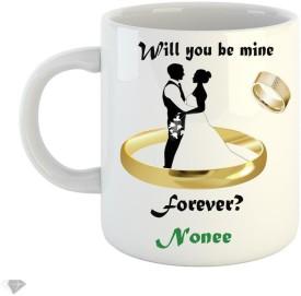 LOLPRINTT Will you be min forever Nonee 350 ml white ceramic mug Ceramic Mug(350 ml)