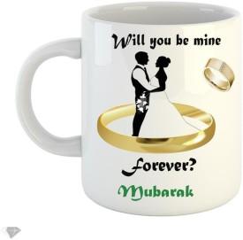 LOLPRINTT Will you be min forever Mubarak 350 ml white ceramic mug Ceramic Mug(350 ml)