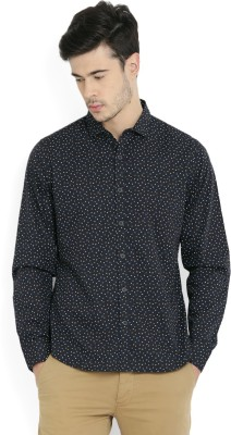 United Colors of Benetton Mens Solid Casual Black Shirt